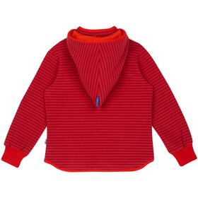 Finkid Tonttu Striped Polaire Enfant, cranberry/grenadine